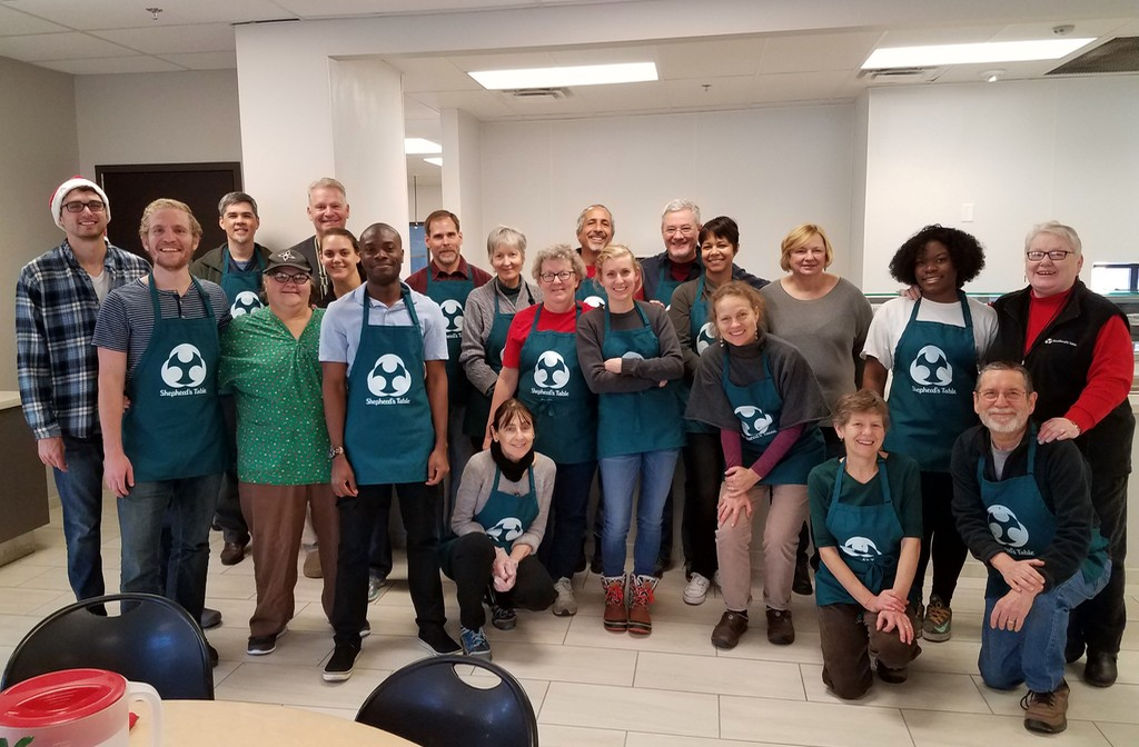 Still Water volunteers and Shepherd's Table staff, Christmas brunch, 2016