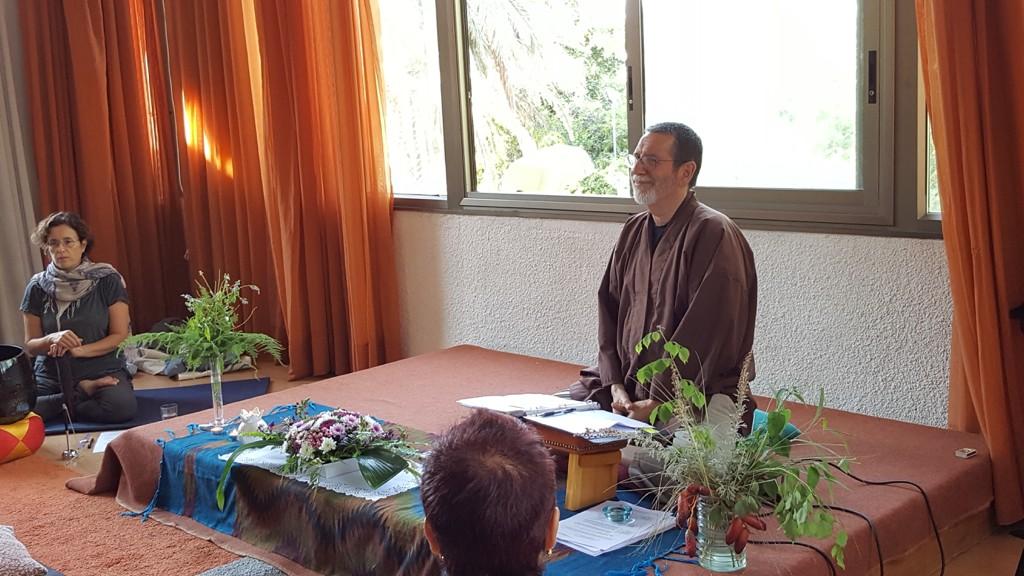 At a Dharma talk
