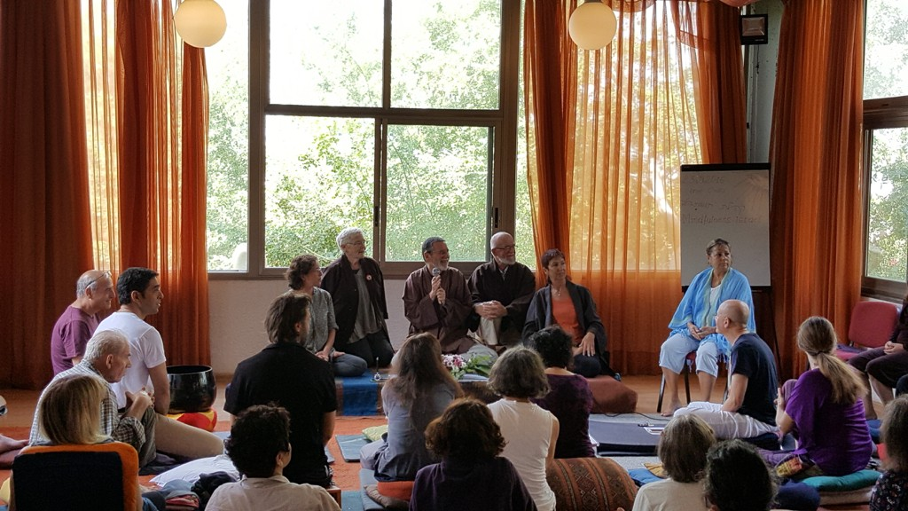 Closing question and answer with Mitchell Ratner and Israeli Dharma teachers Hagit Harmon, Shelagh Shalev, Baruch Shalev, and Rachel Maori
