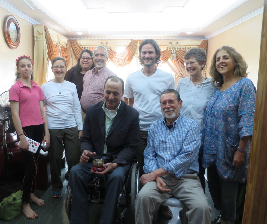 Issa and his daughter with the Still Water group (and Dorit on the right, our friend from Neve Shalom -- Wahat al-Salam.