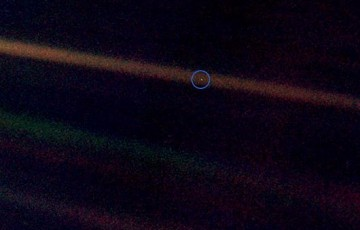 The Pale Blue Dot and the Three Touchings of the Earth
