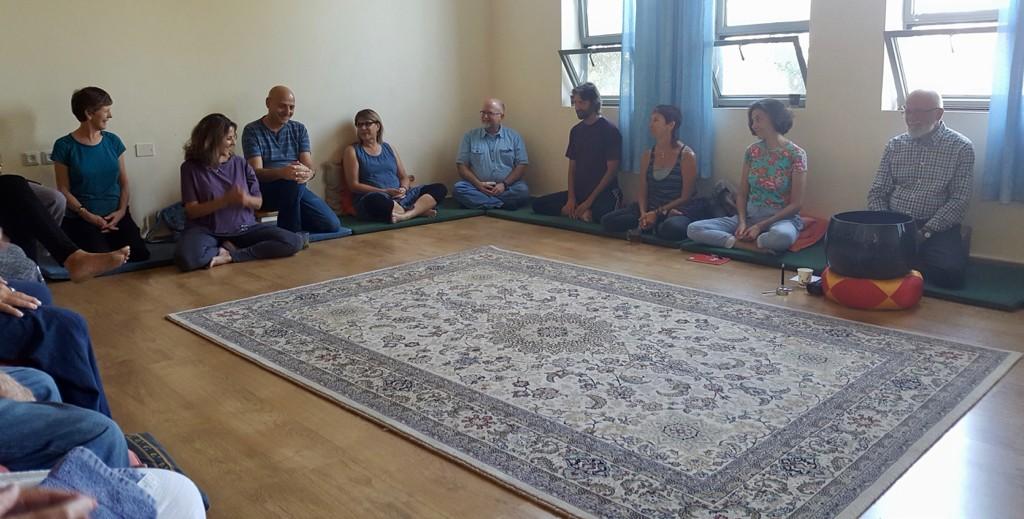 At the Israeli Sangha Assembly at Neve Shalom - Wahat al-Salem