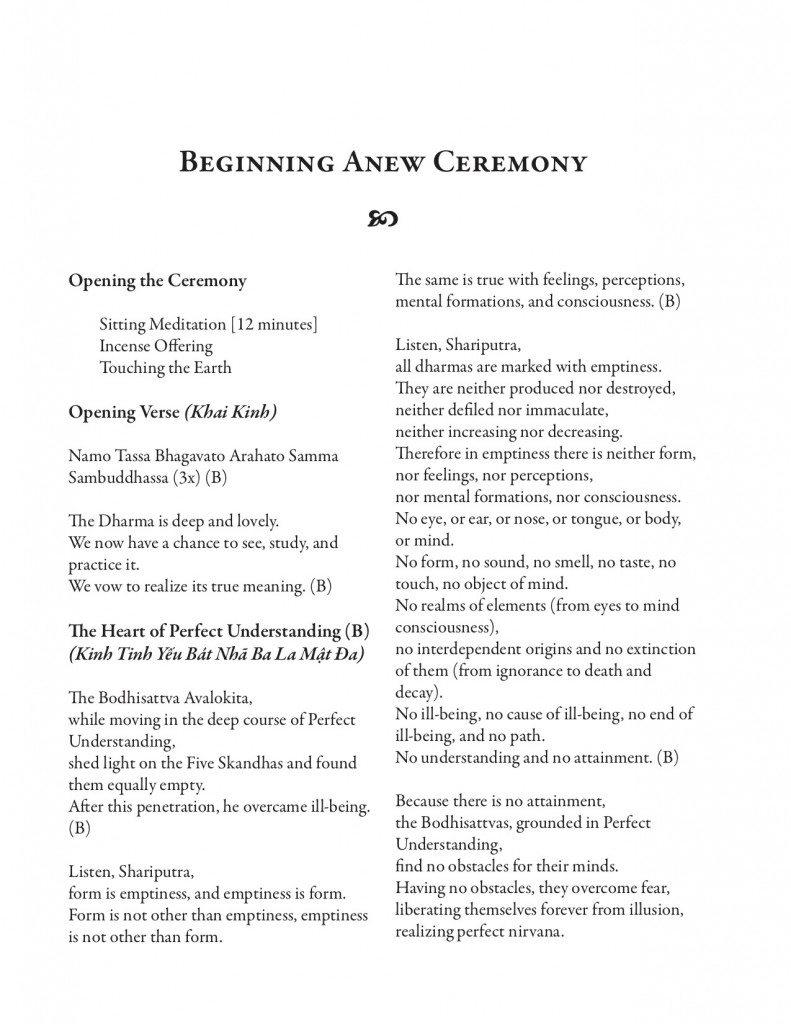 Beginning Anew -Chanting-Book